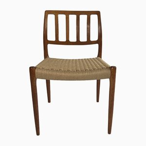Vintage Danish No. 83 Chair by Niels Moller for J. L. Møllers, 1960s-1970s