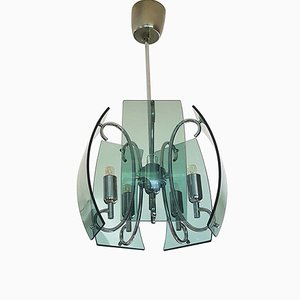 Mid-Century Pendant Lamp in the Style of Fontana Arte, Italy, 1960s