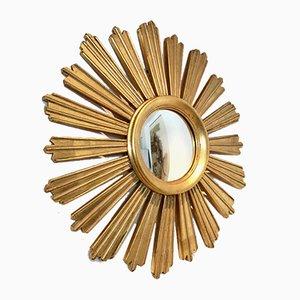 French Giltwood Sunburst Mirror, 1950s