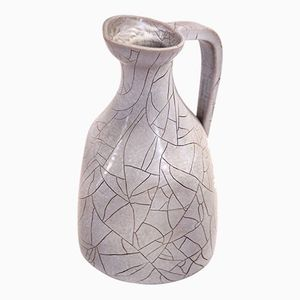 French Ceramic Pitcher from Accolay, 1970s