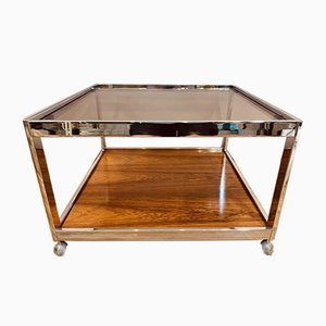 Glass and Chrome Coffee Table from Howard Miller, 1970s