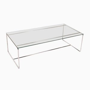 Silver Metal & Glass Table Coffee Table from Carat Züco