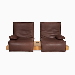 Brown Leather Epos 3 Sofa from Koinor