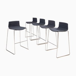 Gray Aava Bar Stools by by Antti Kotilainen for Arper, Set of 4, 2013