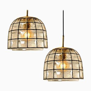 Iron and Bubble Glass Chandelier from Cor