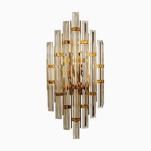 Murano Glass and Gold-Plated Sconce, Italy