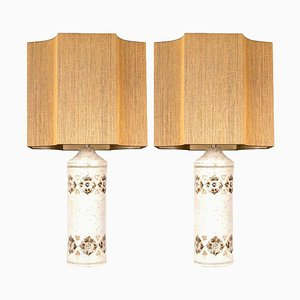 Lamps with Custom Shades from Bitossi, Set of 2