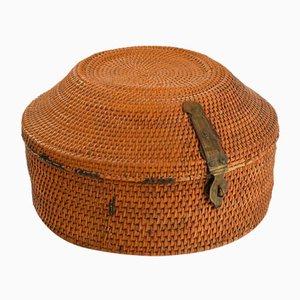 Hardware Braided Wooden Basket