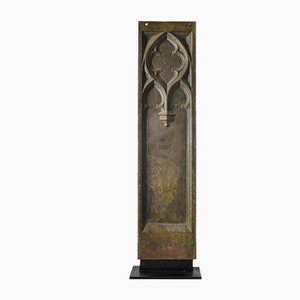 Cast Iron Gothic Religious Plaque
