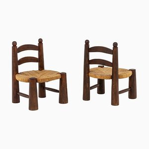 Straw Chairs, 1940s, Set of 2