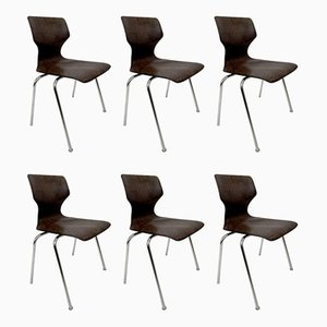 Stacking Dining Chairs from Flötotto, Set of 6