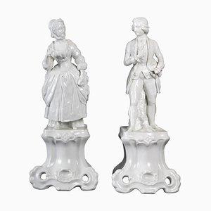 Antique Parisian Porcelain Figures, Set of 2