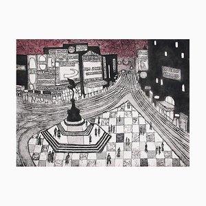 Julian Trevelyan, Piccadilly Circus, 1964
