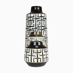 Mid-Century Modern Ceramic Vases from Upsala Ekeby, Sweden, 1960s, Set of 3