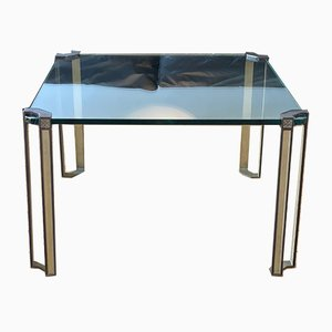 Mid-Century Modern Brass Coffee Table by Peter Ghyczy, 1970s