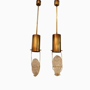 Pendant Lamps by Angelo Brotto for Esperia, 1970s, Set of 2