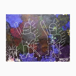 Sax Berlin, We the People, Contemporary Neo-Expressionist Painting, 2020