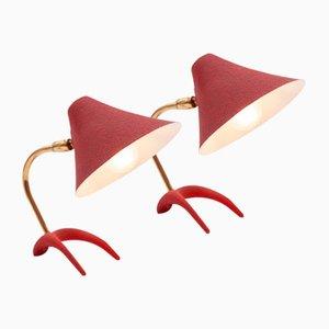 Bedside Lamps by Louis Kalff, Set of 2
