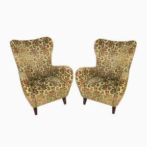 Armchairs in the Style of Paolo Buffa, Italy, 1950s, Set of 2