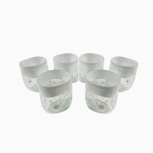 Vintage Italian Red Murano Glass Vanitoso Water Glasses by Maryana Iskra for Ribes Studio, Set of 6