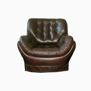Brazilian Leather Club Chair, 1960s