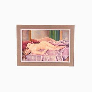 Nude Woman, Oil Paint on Linen, 1960s