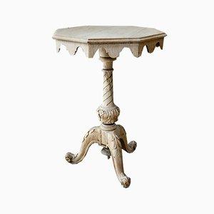 Victorian Bleached Oak Side Table