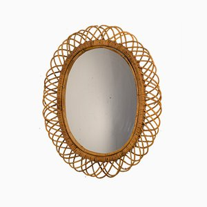 Mirror in Bamboo by Franco Albini, Italy, 1970s