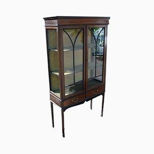 Chinese Mahogany & Glass Cabinet, 1920s