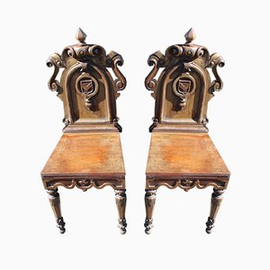 Mahogany Chairs, 1900s, Set of 2