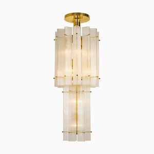 German Murano Ice Glass Ceiling Lamp by Limburg, 1970s