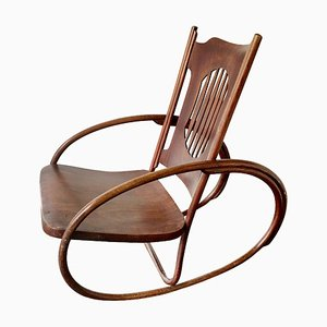 Children's Rocking Chair from Jacob & Josef Kohn, Austria, Early 1900s