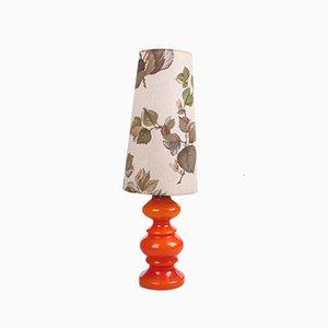 Vintage Orange Glass Table Lamp, 1960s