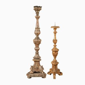 20th Century Wooden Candleholders, Set of 2