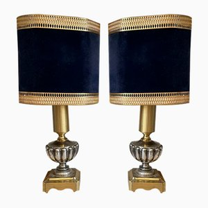 Hollywood Regency Gilded Lamps by Gaetano Sciolari, 1970s, Set of 2