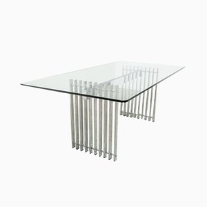Steel and Glass Table, 1970s