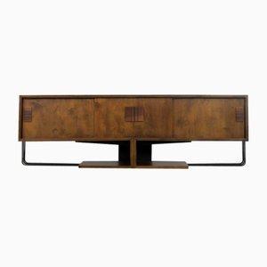 German Birch and Metal Bauhaus Sideboard, 1950s