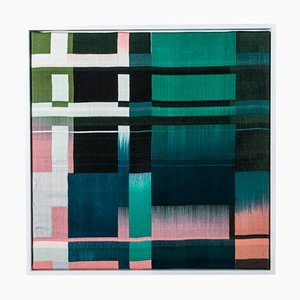 Intersection V, Silk and Bamboo Weaving by Dalia James, 2020
