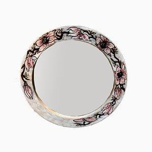 Italian Ceramic Mirror by Elio Schiavon for Erhart SKK, 1960s