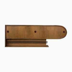 Czech Art Deco Birch Sideboard, 1920s