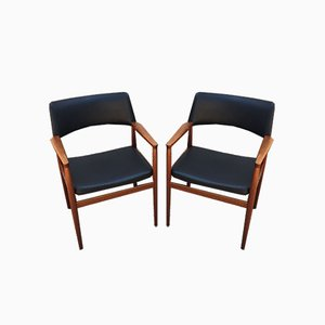 Chairs with Armrests, Denmark, 1960s, Set of 2