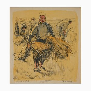 Lucien Desmaré, Young Boy on the Field, Lithograph