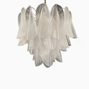 Vintage Italian Murano Rondini Crystal Glass Chandelier from Mazzega, 1980s