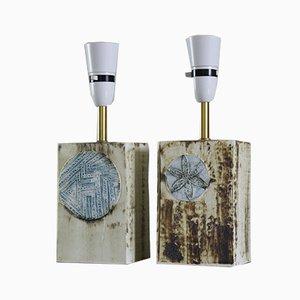Cornish Studio Pottery Table Lamps by John Beusmans , Set of 2