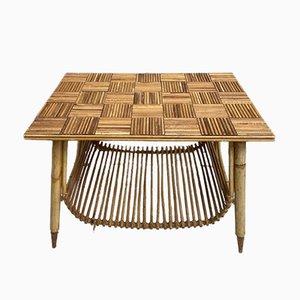 Split Bamboo and Rattan Coffee Table, 1960s