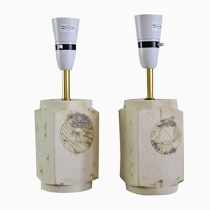 English Table Lamps by John Beusmans for Carn Pottery, Set of 2
