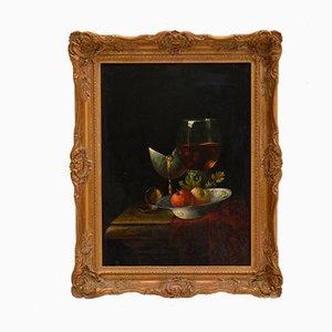 F.V. Knapp, Antique Still Life Painting, Oil on Board