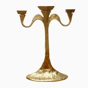 Vintage Brutalist Bronze Candleholder