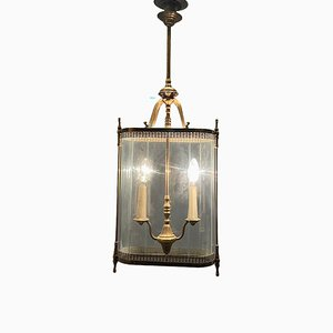 Large Bronze Pendant Light, 1930s