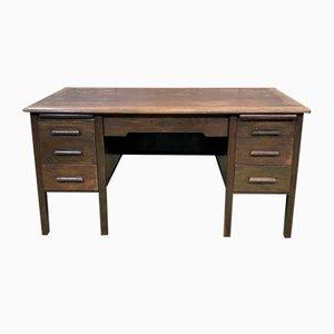 English Flat Desk in Oak, 1960s